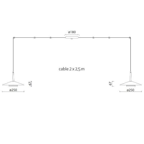 medidas Lámpara de techo Orion 2L