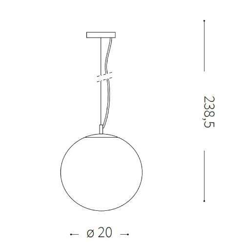 medidas Lámpara de techo Mapa 20cm