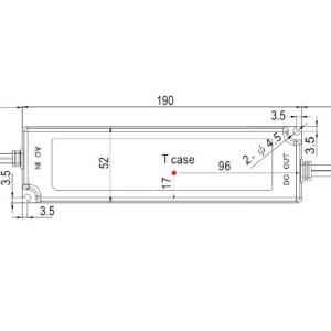 medidas Fuente led 100W 24V