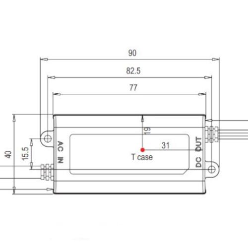 medidas Fuente led 16W 24V