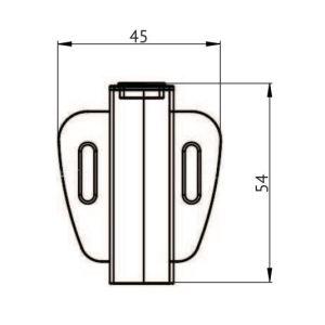 medidas Sensor apertura puerta individual