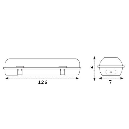medidas pantalla estanca ip65 1x120cm