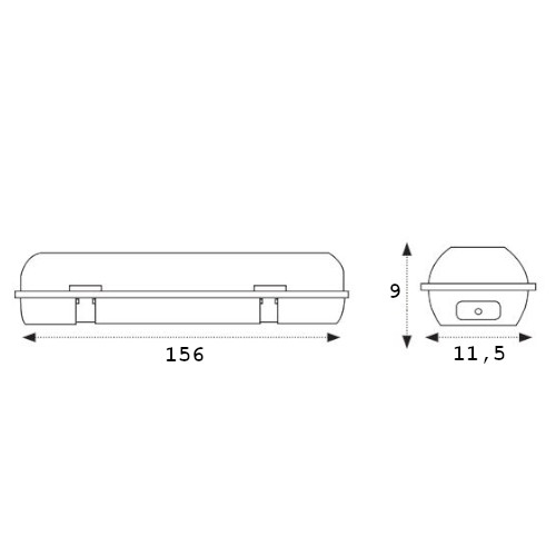 medidas pantalla estanca ip65 2x150cm