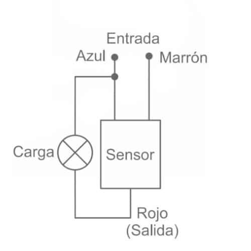 esquema Sensor infrarrojo led