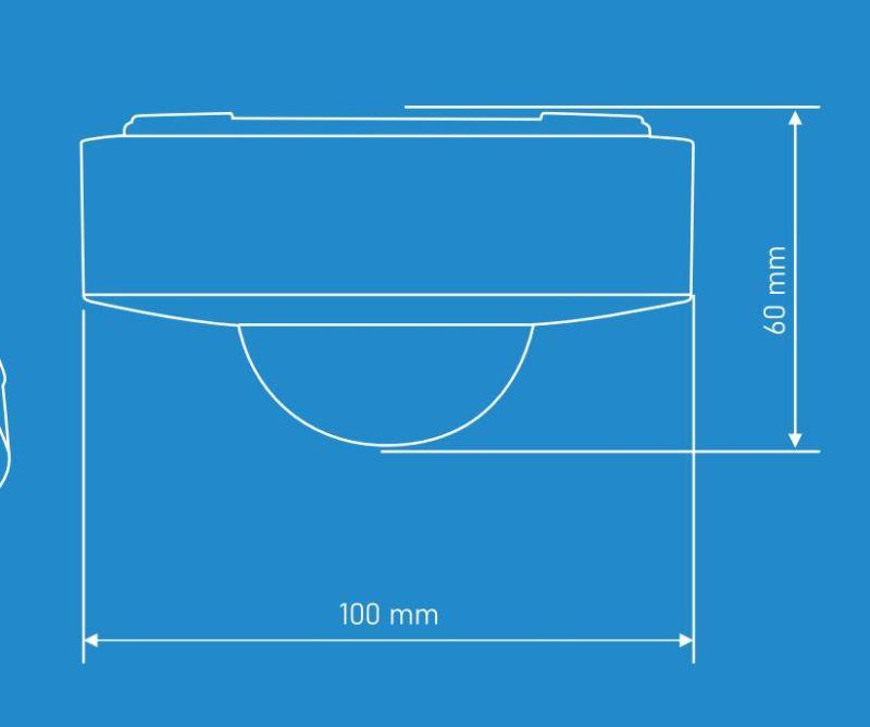 medidas Sensor infrarrojos superficie 360º