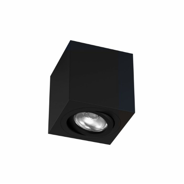 Foco superficie cuadrado ZIO negro