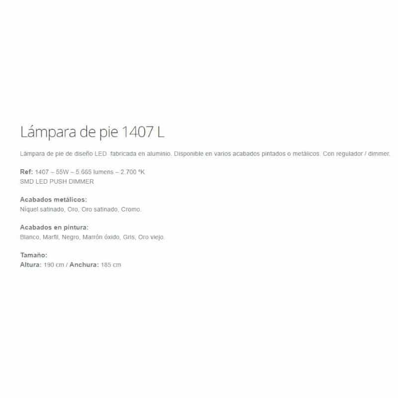 pie 1407 medidas