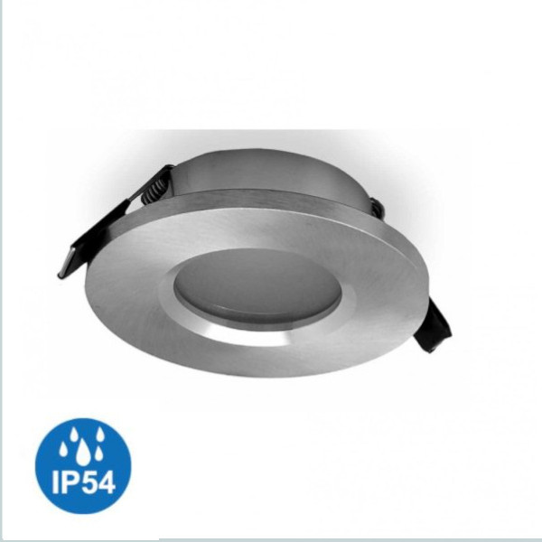 foco empotrable atlantis ip54 plata