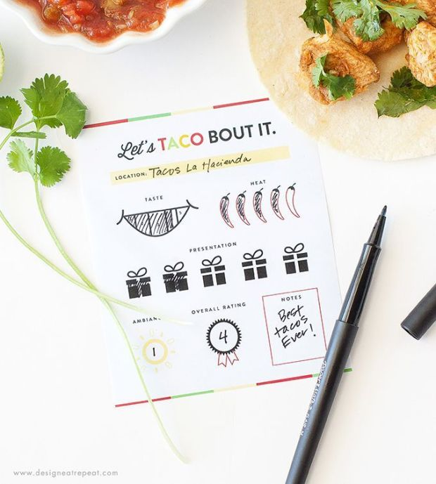 Love-tacos-These-free-printable-score-cards-are-the-perfect-accompaniment-to-any-taco-tour-Rate-each-restaurant-and-keep-track-of-your-favorites-Download-at-Design-Eat-Repeat