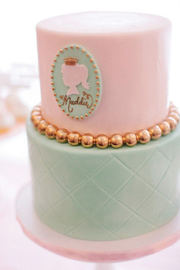 pink-teal-first-birthday-cake