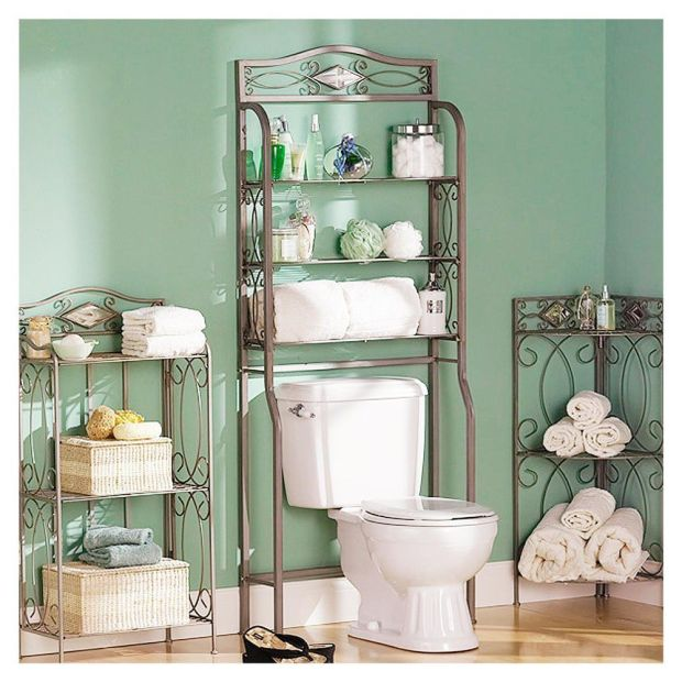metal-shelves-over-toilet-bathroom-small-glass-storage-container-stainless-steel-lid-cover-wicker-laundry-lined-linen-rattan-basket-cotton-plain-white-towels