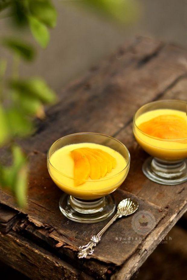 Silky lemon pudding1