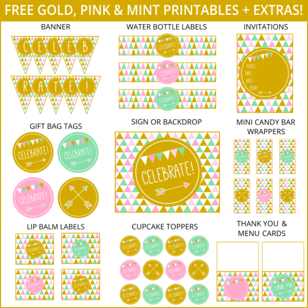 Free-Gold-Pink-and-Mint-Printables-Extras.png