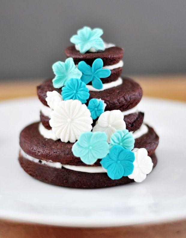 Teal & Brown Cookie Cake.JPG