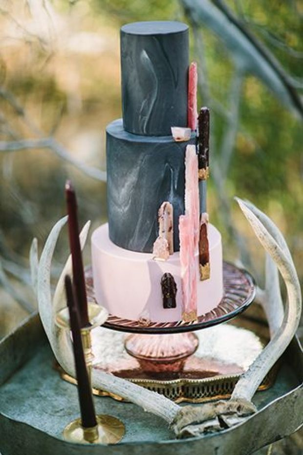 Spellbound-Halloween-Wedding-3-Tier-Marbled-Wedding-Cake-with-Geometric-Shapes