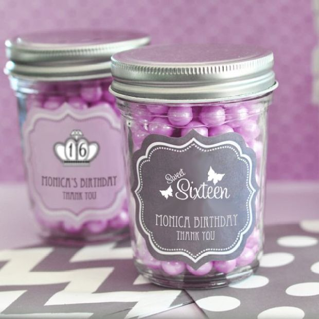 Sweet-Sixteen-or-15-Mini-Mason-Jars-details