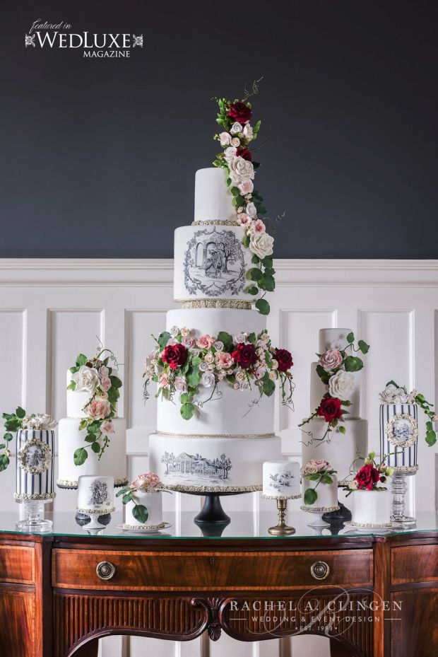 luxury-wedding-cake-toille