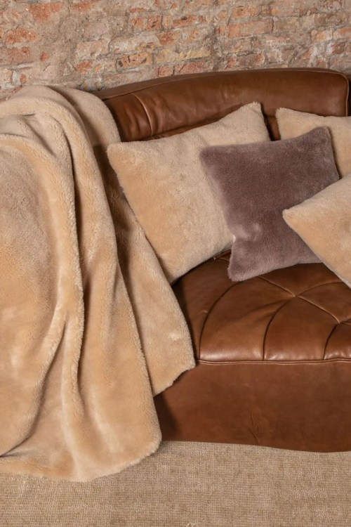COJIN 40X40 ECOWOOL NATURAL WHITE SINGLE FACE WOOL