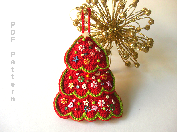 Crochet Pattern For Xmas Tree : 10 of the Best Crochet Christmas Trees! - Luz Patterns