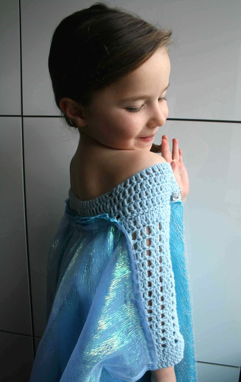 LuzPatterns.com Ice Queen dress detail