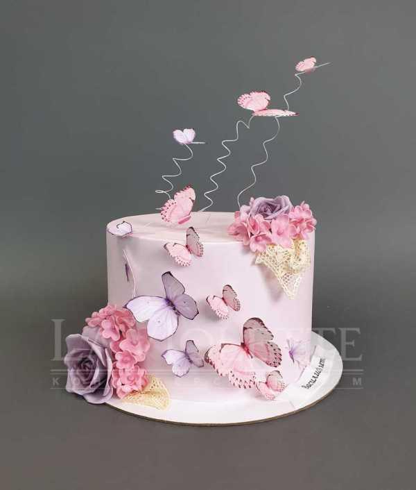 Торт с бабочками №1060 по цене: 2200.00 руб в Москве   Lv ...