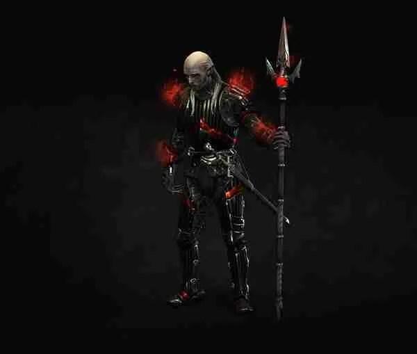 UNSEEN ELDER DARK BLOOD ARMOR LEADER SKIN