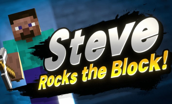 Minecraft Steve joins Smash