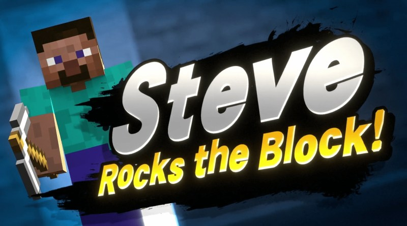 Minecraft Steve joins Smash