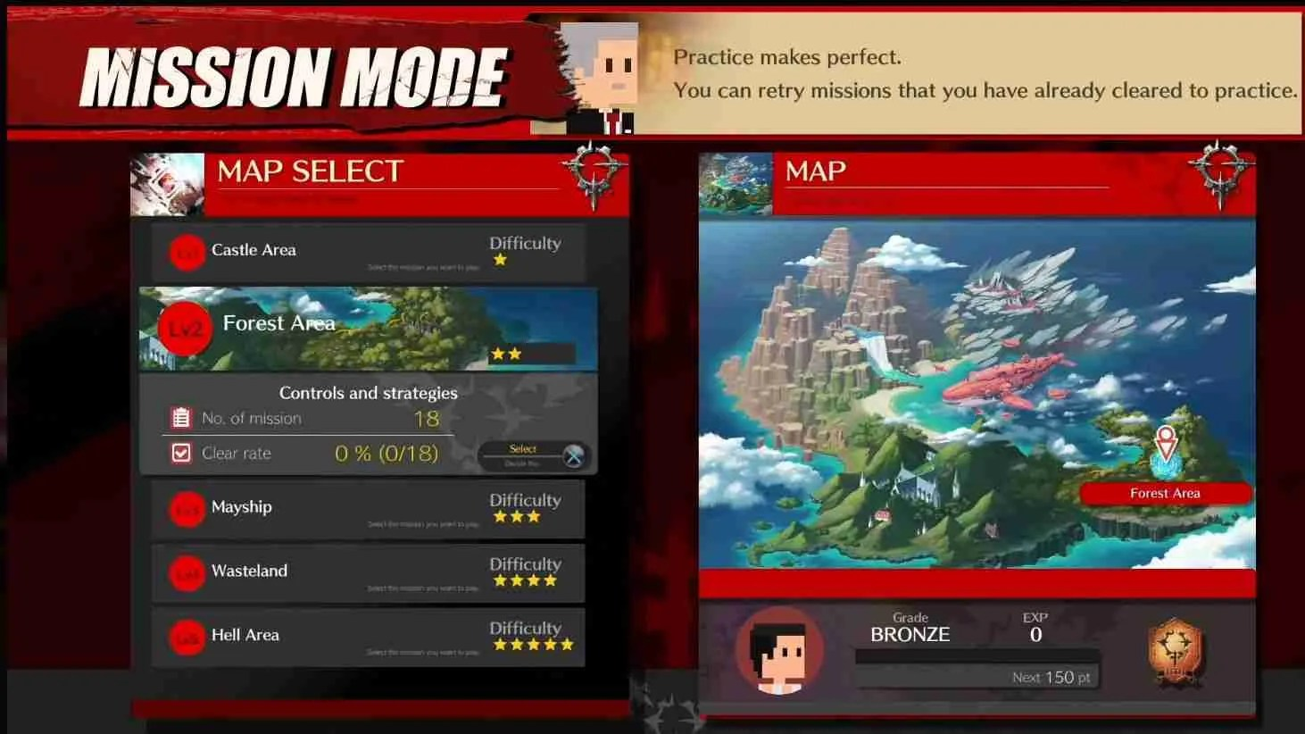 image of map for mission mode guilty gear strive