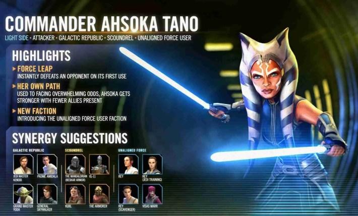 Commander Ashoka Tano Broke the Star Wars: Galaxy of Heroes Meta