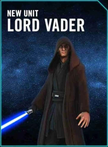 Lord Vader is coming to Star Wars: Galaxy of Heroes