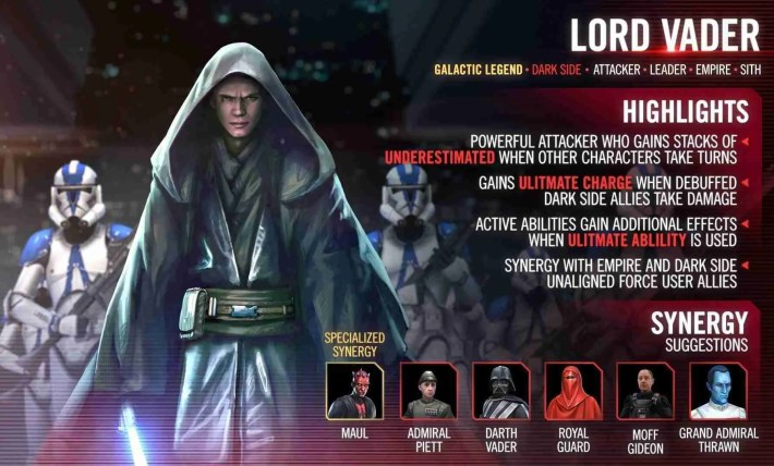 Lord Vader Has Finally Come to Galaxy of Heroes