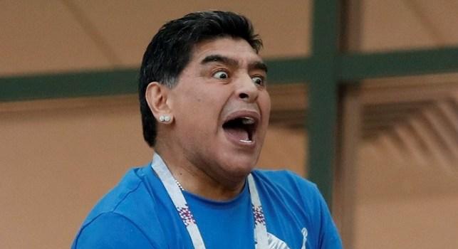 Que le pasó a Maradona?