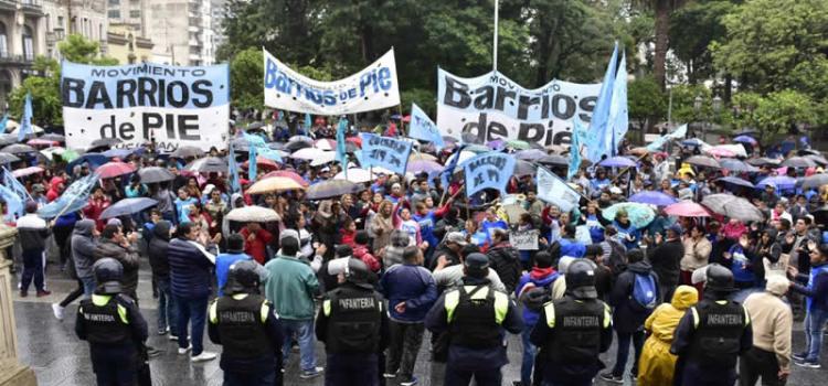 Barrios de Pie realiza una jornada Nacional de protesta