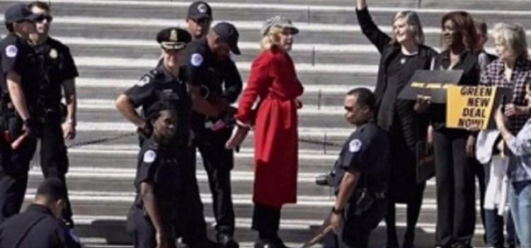 Jane Fonda fue detenida de nuevo por protestar contra el cambio climático