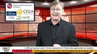 Eric Bernard présente les dernières nouvelles agricoles et agroalimentaire au Québec