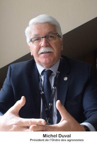 Michel Duval, président de l'Ordre des agronomes
