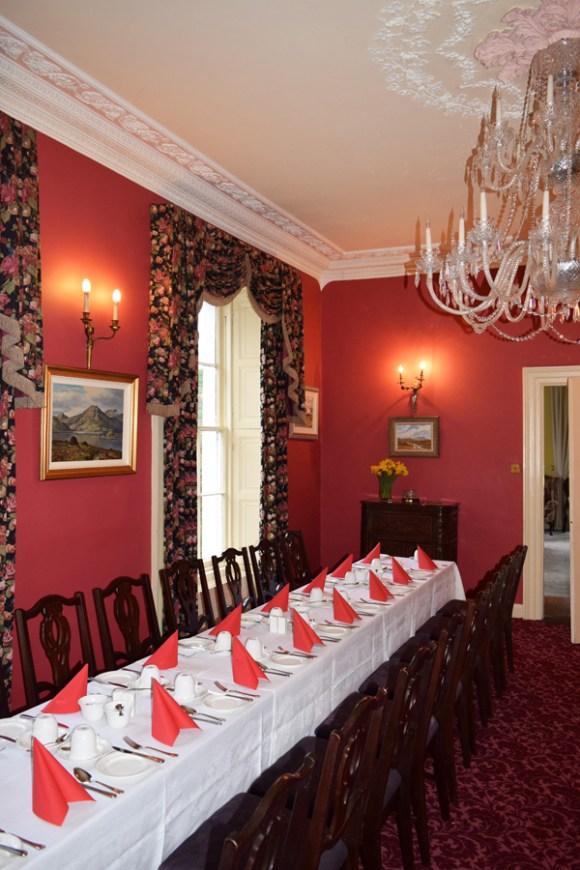 Castle Grove Red Drawing Room © Lavender's Blue Stuart Blakley