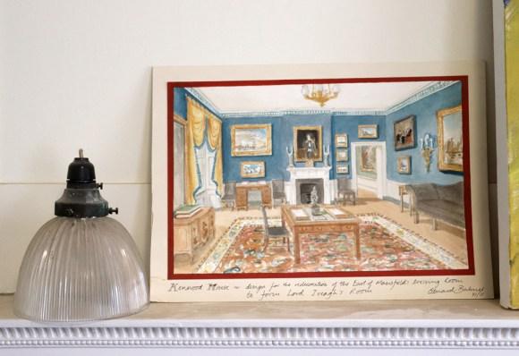 Kenwood House Hampstead London Watercolour by Edward Bulmer © Lavender's Blue Stuart Blakley