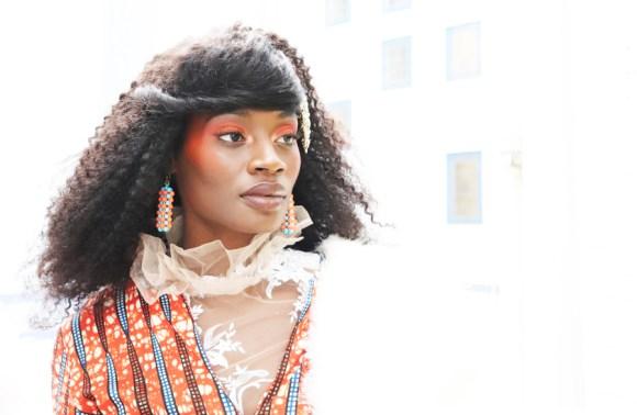 Africa Fashion Week London Model Backstage © Lavender's Blue Stuart Blakley