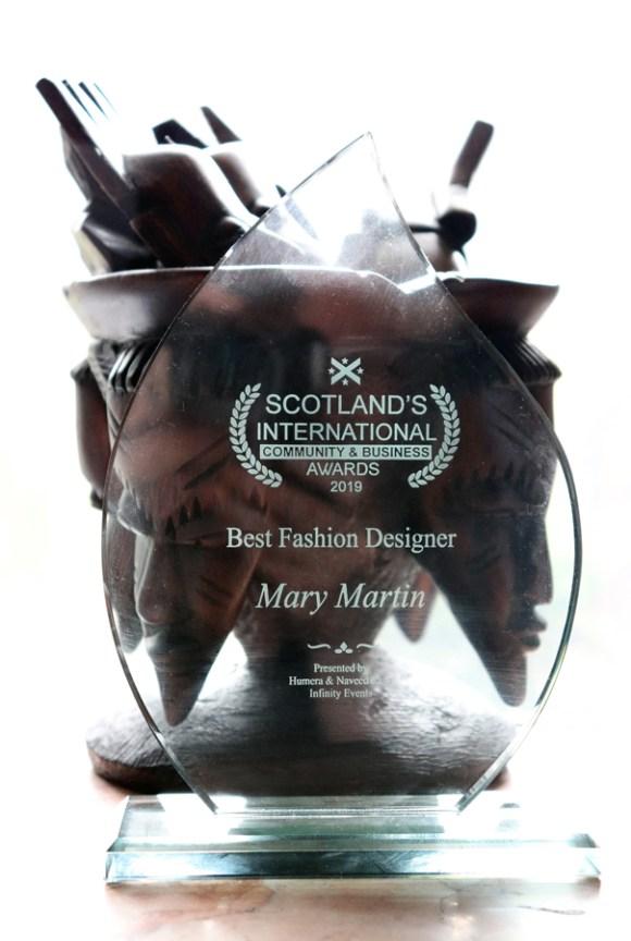 Mary Martin London Best Fashion Designer Award © Lavender's Blue Stuart Blakley