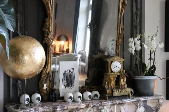 Drawing Room Mantelpiece La Divine Comedie Avignon © Lavender's Blue Stuart Blakley