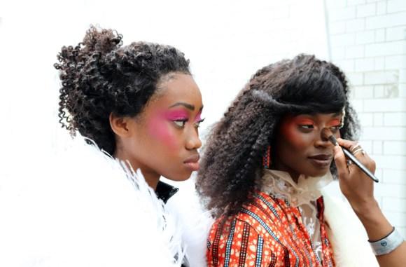 Makeup AFWL Africa Fashion Week London © Lavender's Blue Stuart Blakley