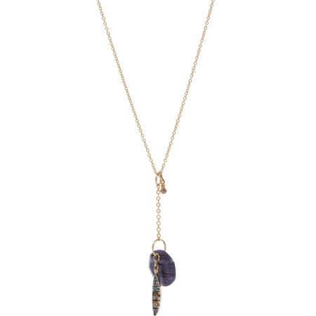 FABRIZIO RIVA Blue & Brown Diamond & Quartz Necklace $1285 now $769