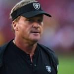 Jon Gruden Out as Raiders Head Coach