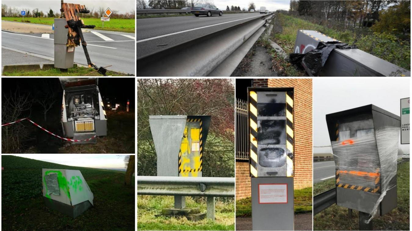Dans le Nord et le Pas-de-Calais aussi, les préfectures ne veulent pas parler du nombre de radars détruits pendant le mouvement des Gilets jaunes. PHOTO « LA VOIX »