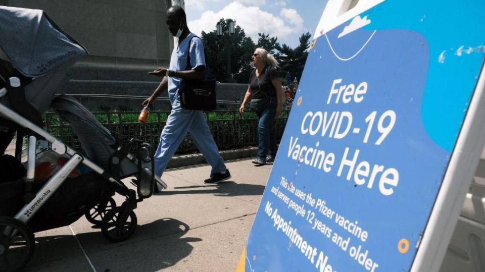 Selon une étude américaine du Centre de prévention et de contrôle des maladies, les personnes vaccinées transmettent également le variant Delta du Covid-19.(SPENCER PLATT / GETTY IMAGES NORTH AMERICA / Getty Images via AFP)