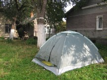 В такій палатці спали двоє братів. Було прохолодно