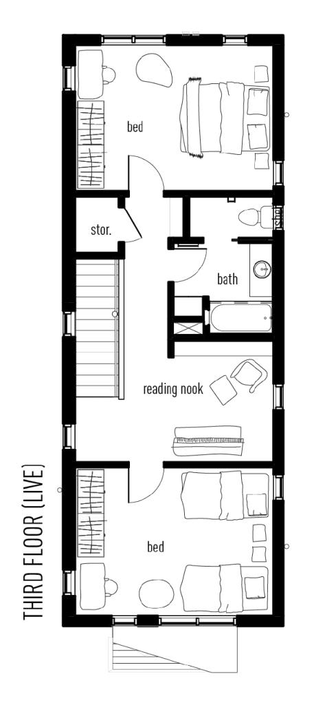 Third floor plan of The Industrious Live-Work
