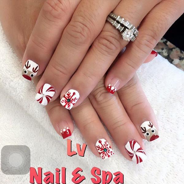 Christmas Nails – L.V. Maui Nail & Spa